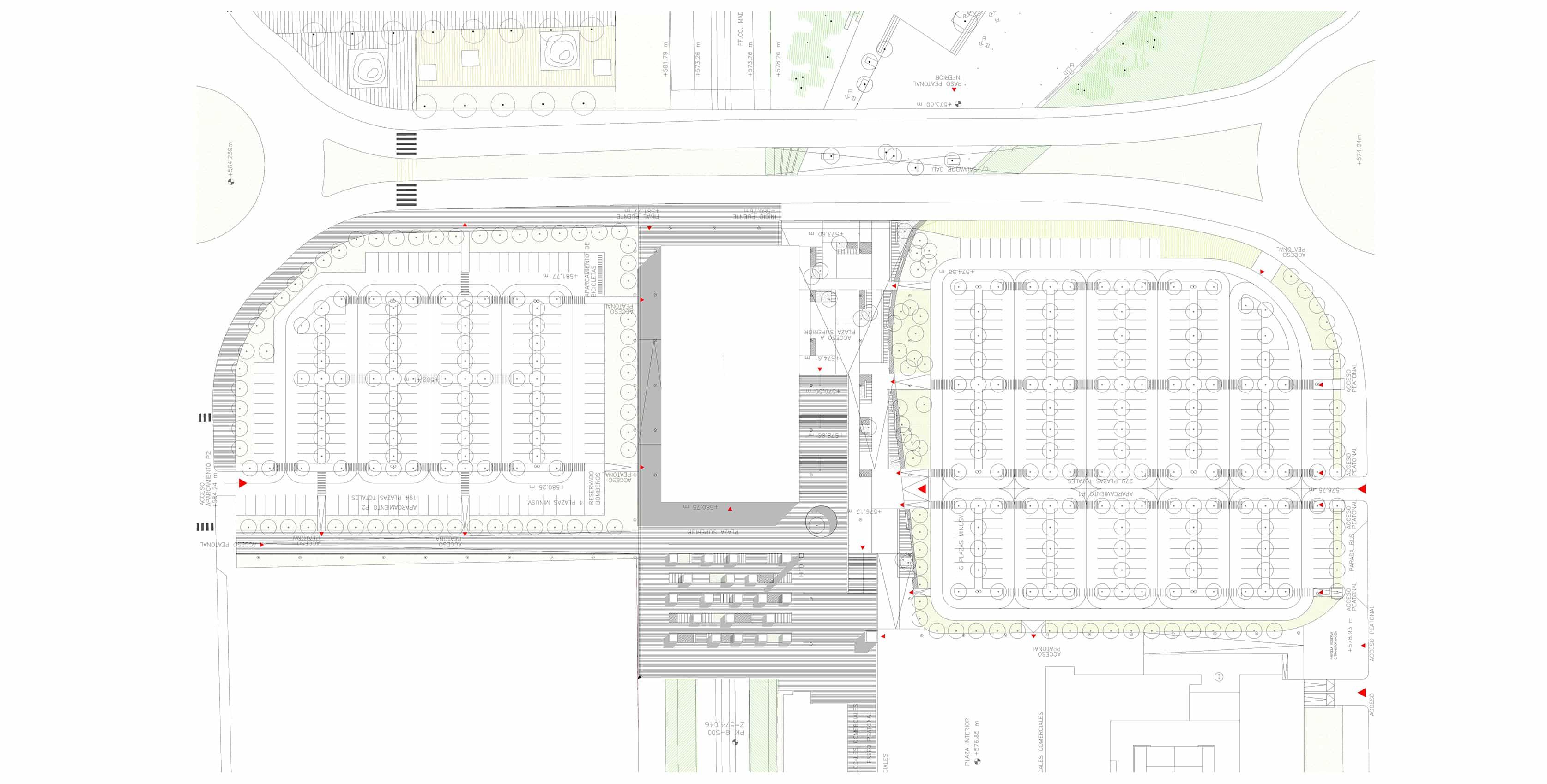 Estación METRO de Madrid - plano situación -arquitectura transporte - Estación METRO de MADRID_LGV+LANDINEZ+REY | equipo L2G arquitectos, slp [ eL2Gaa ]
