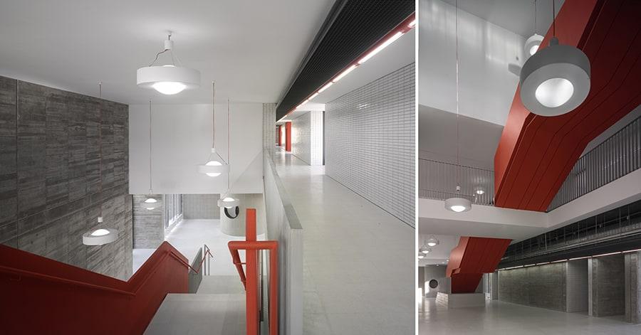 IES Coria - fábricas ladrillo interior - arquitectura escolar - LANDÍNEZ+REY | eL2Gaa