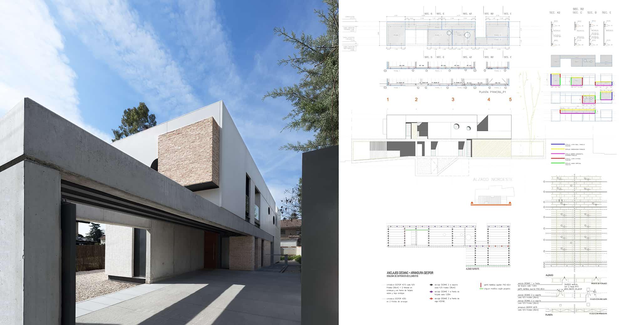 Vivienda_IA - detalle constructivo: prefabricado de hormigón y fábrica armada - LANDINEZ+REY | equipo L2G arquitectos, slp [ eL2Gaa ]