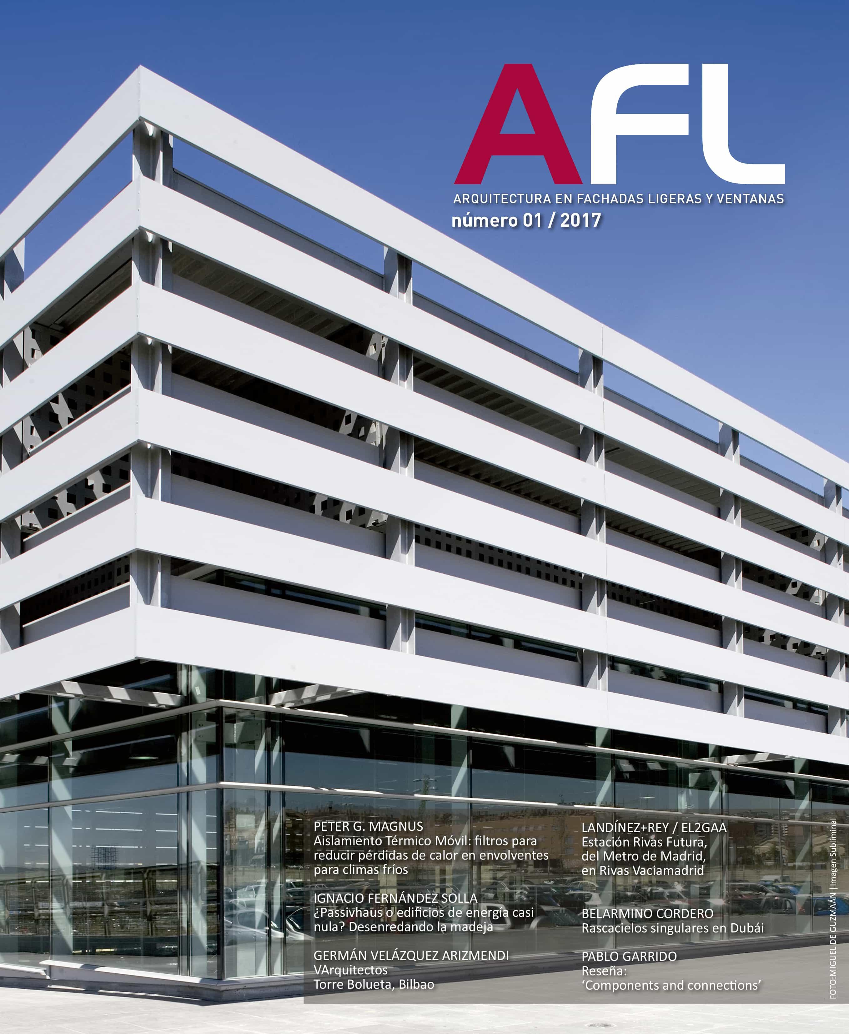 obra publicada - LANDINEZ+REY arquitectos portada revista AFL_AF28 estacion metro rivas-futura arquitectura transporte